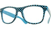 Clear Checkered Cool (GITD) - Blue/Clear