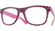 Clear Checkered Cool (GITD) - Magenta/Clear