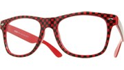 Clear Checkered Cool (GITD) - Red/Clear
