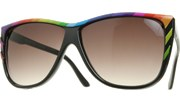 Vintage Rainbow Sunglasses - Black/Smoke