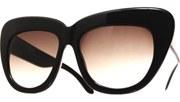 Oversized High Brow Sunglasses - Black/Smoke
