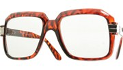80s Run DMC Glasses - Tortoise/Clear