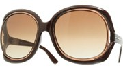 Round Floating Lens Sunglasses - Brown/Brown