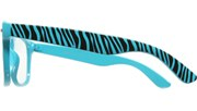 Clear Zebra Print Cool - Blue/Clear