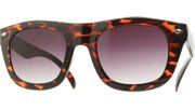 Rounded Cool Sunglasses - Tortoise/Smoke