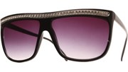Gaga Diamonds Sunglasses - Blk/Slv/Smk