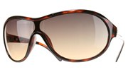 Plastic Oval Aviators with Metal Accent