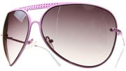 Perforated Metal Aviators - Pink/Smoke
