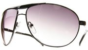 Spring Hinged Metal Aviators - Pewter/Smoke