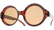 Circle Vintage Sunglasses - Brown/Brown