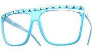 Party Rock Glasses - Blue/Clear