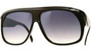 Overlapped Aviator Sunglasses - Black/Black