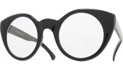 Vintage 50s Round Glasses - Black/Clear
