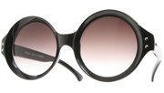 Circle Vintage Sunglasses - Black/Smoke